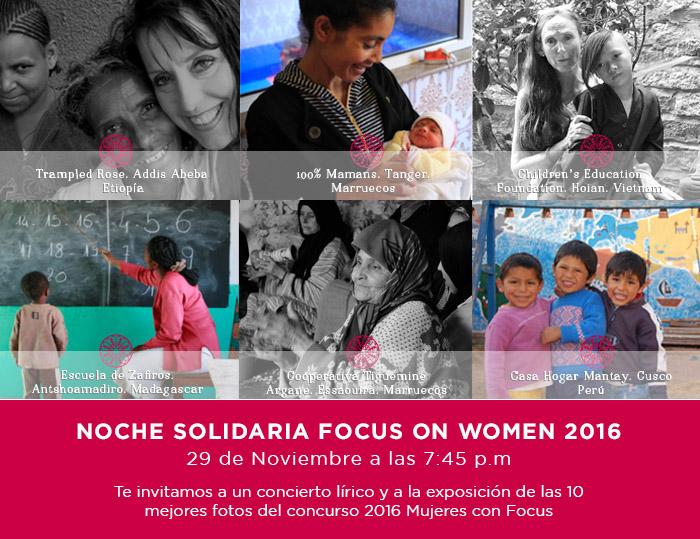 Noche Solidaria Focus on Women 2016